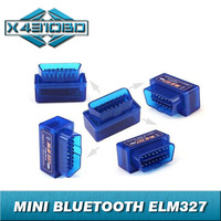 Free Shipping Super Mini ELM327 Bluetooth OBD2 Scanner ELM 327 For Multi-brand CANBUS Support All OBD2 Model