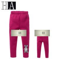Wholesale New Baby Girls' Leggings Children Winter Warm Brand Pants Kids High Quality Fashion Rose Red Rabbit Leggings 5 Pcs/Lot