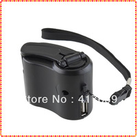 1pcs USB Hand Power Dynamo Torch Light Emergency Charger For Cell phone New Free Shipping