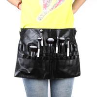 High Quanlity Cosmetic Makeup Brush PVC Apron Bag Artist Belt Strap Professional Make up Bag Holder