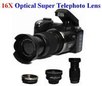"New types D3000 SLR Digital camera 16MP 3.0 ""LTPS screen +16 times telephoto lens + wide angle lens"