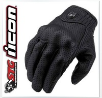 1202 Men's Motorcycle Racing ICON PURSUIT Gloves Motorbike Cycling Biker Bicycle Sports Gloves black M L XL