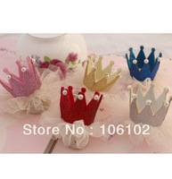 Free Shipping DIY Korean Cartoon Lace Prince Imperial Crown Christmas Birthday Party Hair Decorations Accessories 50Pcs/Lot