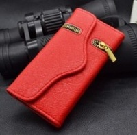 Brand Luxury Pure Flip Wallet Card Holder Magnetic Zipper Leather Cases Cover For Apple iphone 5C Pouch Protector 0277