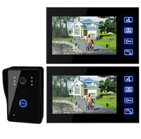 DHL EMS Free Shipping! 7'LCD Wired Home Security Doorbell System Video Intercom Color Camera Door Phone Door Bell