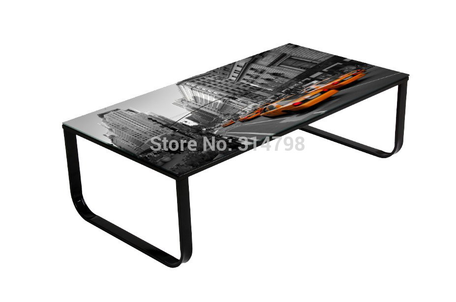 Coffee table with pattern uk coffee table with picture on - Table basse relevable new york ...