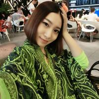 Vintage color block silk floss scarf cape fluid long design women's autumn and winter female silk scarf