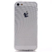 Waterdrop Transparent Silicone Case for iPhone 5S 5 Glossy Soft Dot Cover, Hotsale, 10pcs/lot, Free Shipping