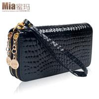 brand woman wallet women     double zipper  stone pattern  long  big       card holder wallets purse carteira feminina