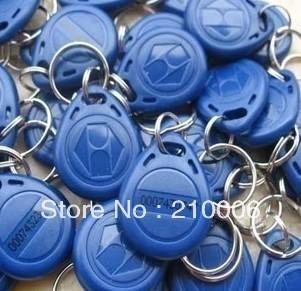 Free Shipping RFID Proximity ID Token Tag Key Ring 125Khz RFID cards Grey 200pcs/lot(China (Mainland))