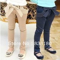 autumn summer children fashion Harem pants girls base wild navy bow trousers princess sweet Harlan pants slim Pants for kids