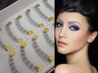 False eyelashes pure manual transparent terrier next eyelash cross section false eyelashes 10 on a box  free shipping