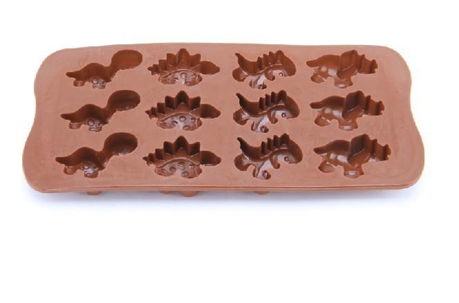 100pcs/lot Frete Grátis Silicone Xmas Dinosaur Chocolate Cookies Candy Pop Mould Cortador Fondant Bolo Ferramentas C796S(China (Mainland))