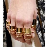 Min order is $9 Fashion hm quality metal glossy ring