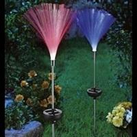 Colorful fiber optic lights change export solar lawn lights plugged garden lights garden lights Christmas Lights