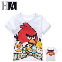 New Baby Boys Girls Great Summer Short T Shirts Children White Cartoon 100% Cotton Health T-Shirt Kids Popular Clothes In School