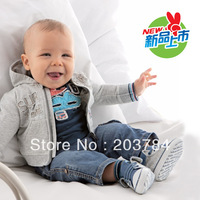 TZ-082,Free shipping baby clothes set Casual boys clothing set (coat+t-shirt+jeans) 3pcs autumn kid garment Wholesale and Retail