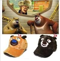 HOT Style Winter Bear Hat For Children Cartoon Design Baseball Cap 2 colors