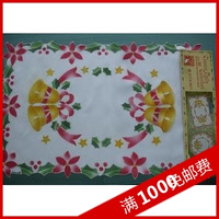 Spray embroidered handmade christmas doily table runner sofa towel 35 45cm