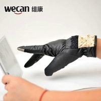 2014 new lady winter warm conentional down cotton touch gloves thermal women fur add touch screen gloves free shipping