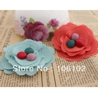 Free Shipping DIY Hair Flowers Multilayer Unique Handmade Brooches Shoes Clothes Accessories 7CM 70pcs/Lot Wholesale