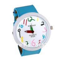 WOMAGE women dress watch Number Dial Pencil Hands Women's Analog Watch ladies watch