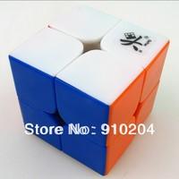 Free shipping!!New Dayan Zhanchi Colored 2x2x2 46mm mini Speed Cube Stickerless