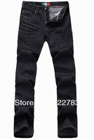 Free Shipping HOT Brand Men's Spring Fashion Personality Plaid Brit Jeans High Quality Long Mens Jean DropShipping