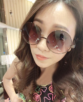 Free shipping 2013 vintage sunglasses female male sunglasses big box circle sunglasses fashion prince mirror