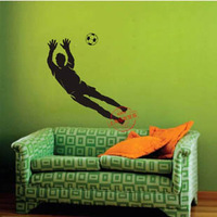 Free Shipping Wholesale and Retail Football Soccer Wall Stickers Sport Wall Decal Home Decoration