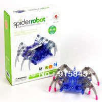 Free Shipping Spider robot high-teach DIY assemble Smart Spider Electric crawl toy simple science and education toy