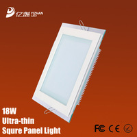 Free shipping square 18w panel led lamp modern living smd 5730 warm cold white light 100pcs/lot