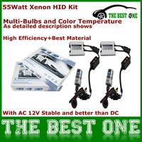 Usefull Auto HeadLamp Xenon 55W HID AC Slim Ballast 12V All Color 3000K-12000K Xenon HID KIT H8 H4 H3 H1..Bulb Optional CNP Free