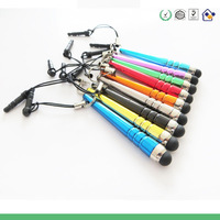 50 pcs fashion stylus Mini Tablet PC  touch screen With Anti-Dust Plug for phone &pad as mobile phone chain