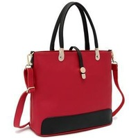 New 2013 Women Leather Handbags Designers Brand Messenger Bag Vintage Genuine Leather Cowhide Red Blue Totes Famous Items Ladies