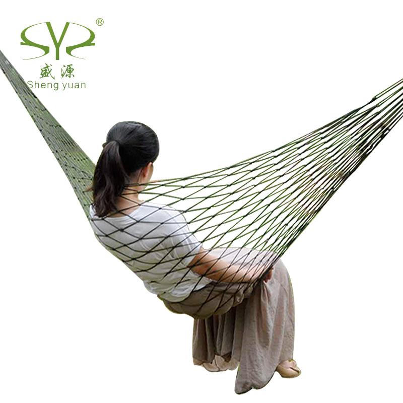 2013 Free Shipping Bi-color Nylon Parachute Outdoor Portable Double Camping Hammock(China (Mainland))
