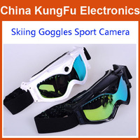 HD 720P 5MP Video Camera Snow Goggles Skiing sport DVR Taking Photo+AV out 130 degree Wide angle real 30fps Outdoor sport camera
