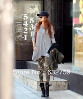 Leggings new winter camouflage combed cotton printing leggings nine minutes of pants pencil pants show thin woman