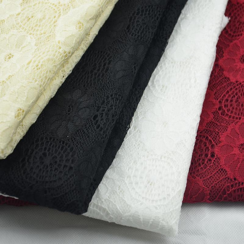 New arrival nylon lace jacquard yarn dyed fabric quality women's fabric(China (Mainland))