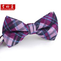 Quality male bow tie male double layer fashion male fashion bow tie fashion check w157
