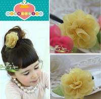 kids Baby accessories children Girls headwear rose hair rope flower elastic band GHN-0039