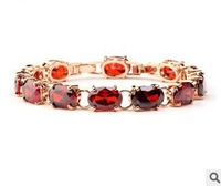 2013 New arrival Venus AAA zircon bracelets Pomegranate red & champagne rose gold plating Wholesale women Fashion Jewelry