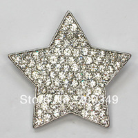 AB Clear Crystal Rhinestone Star  Brooch (NO PIN)