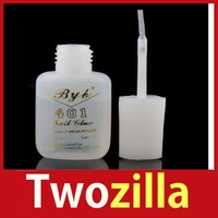 [Twozilla] 10g Long Last Practical Useful 401 Nail Art Salon Glue Brush Decor Tip Acrylic Hot