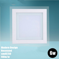 AC85-265V warm/cold white square led panel lighting ceiling light downlight 4w 6w 30pcs/lot