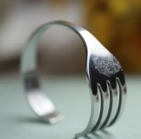 2013 Novelty Item Christmas Gift Fashion Punk Stainless Steel Fork Bracelet Bangle New Arrival For Men Women Wholesale
