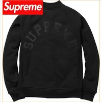 2013 Supreme Streetwear Brand Embroidery Logo Men's Long Sleeve Outerwear Hoodies Baseball Jacket Sweatshirts Cotton-Padded A+++