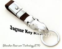 Luxury Genuine Leather Key Chain, 1 Piece Car LOGO Keychain Jaguar Key Ring Trinket+Free Shpping