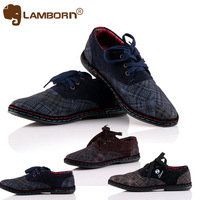 29$ Free Shipping New 2013 Brand Cheap Mens Flats Shoes Canvas Shoes British Leisure Lace up Blue Red Gray 3 COLORS Running Shoe