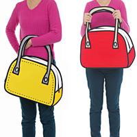 KATLLA! new arrival! cartoons bag 3d golf bag handbag 2d bag fashion women's bags !